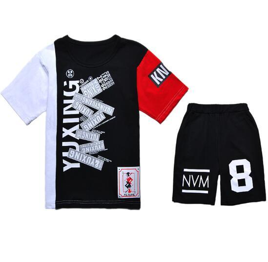 2019 HOT SELL New Style Children's Clothing For kids Boys And Girls Sports Suit Baby Infant Short Sleeve Clothes Kids Set 2t-9t VOCRE