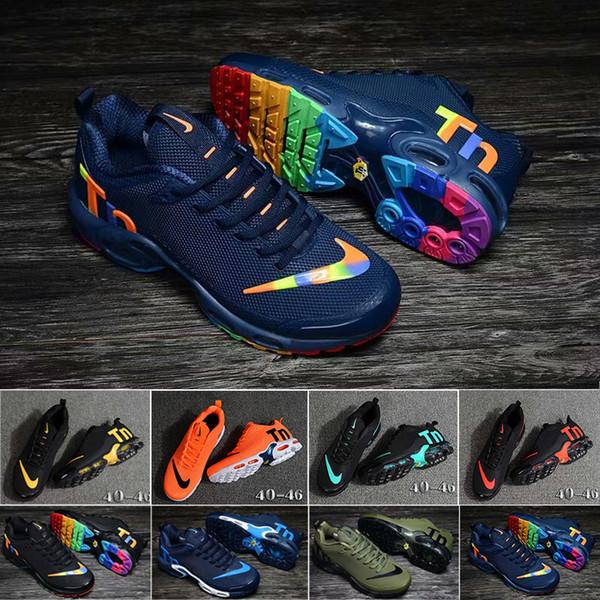 nike Tn plus air max airmax Original Tn Hombres Zapatillas de deporte de diseño Chaussures Kpu Hombres Tn Zapatillas de deporte 2019 Más nuevos zapatos deportivos para caminar al