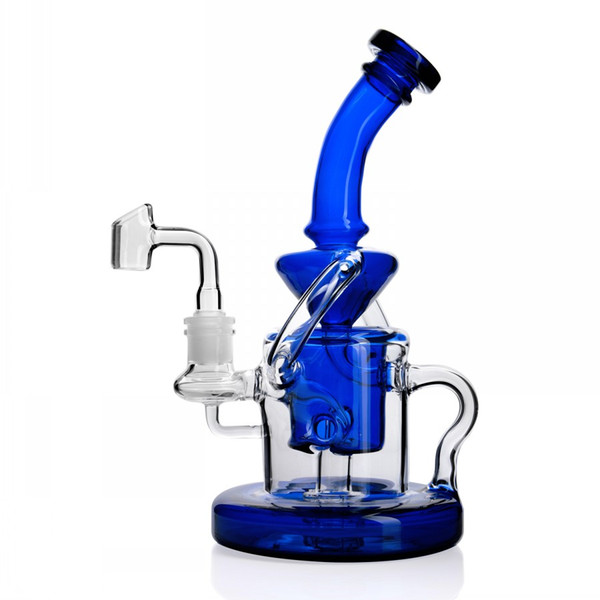 Recycler bongs bong water pipes heady glass pipe toro hitman wax bubbler inline perc smoking accessories dab oil rigs hookahs with 14