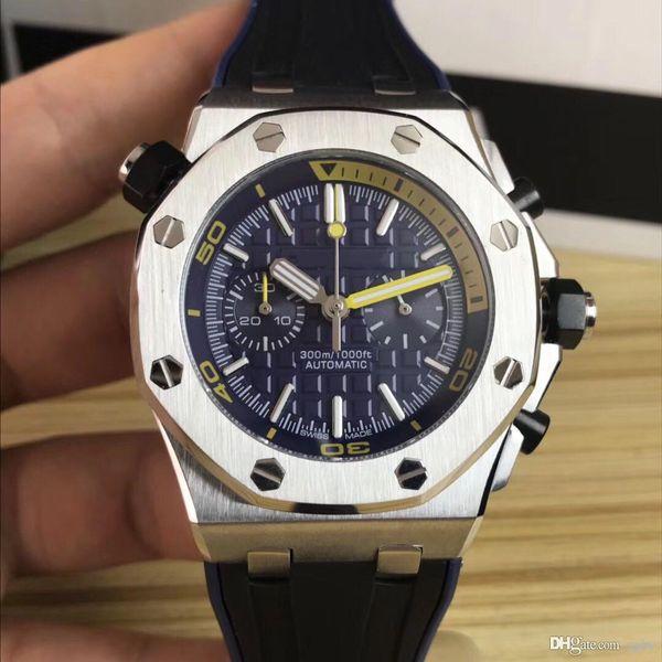 3A Herren Luxus Quarz Chronograph Uhrwerk. Royal Oak Series. VK Chronograph Quarzwerk. 42 mm Zifferblatt. 316 Stahl. Männer'
