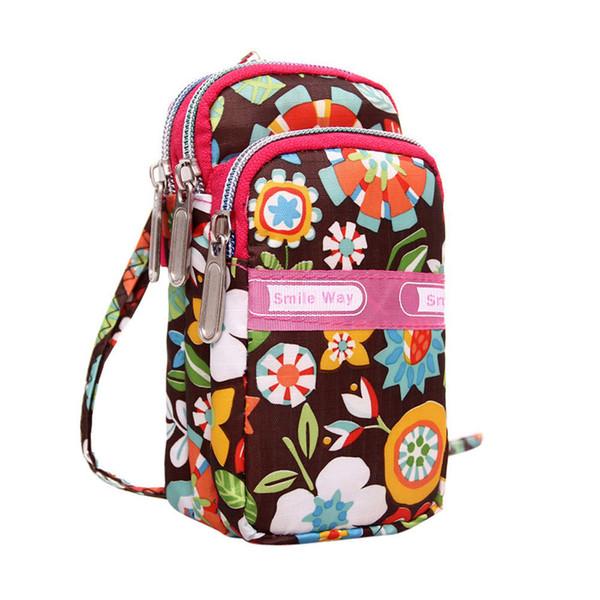 Borsa della moneta del polso del sacchetto della moneta delle donne 2019 nuova borsa sportiva della borsa del polsino della borsa della chiusura lampo di stampa di nuova moda mini della borsa della moneta