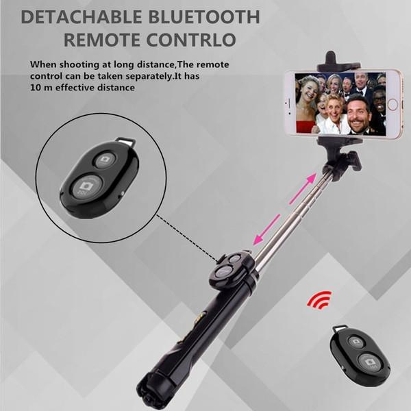Bluetooth Selfie Stick trípode para iPhone 7 6 5s 5 para Samsung S8 S7 S6 Huawei Xiaomi Selfiestick remoto portátil Monopod
