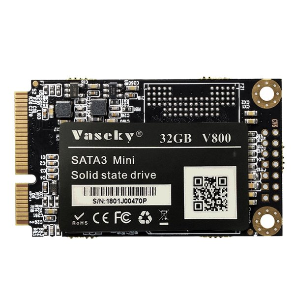 Vaseky Hard Drive Disk, Mini mSATA 3 1.8 Inch SSD Hard Drive Disk Solid State For Notebook Desktop Computer
