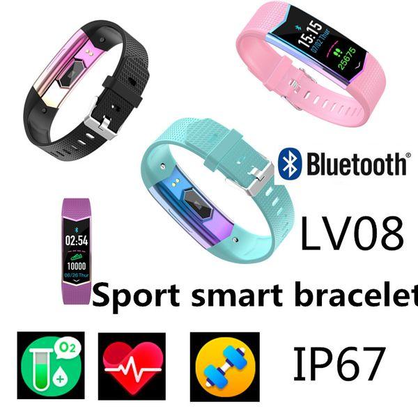 LV08 спортивный умный браслет Артериальное давление Сердечный ритм fitbit-e Фитнес-трекер активности для iOS-Apple Xiaomi mi Band 4 фитнес SmartWatch Z6