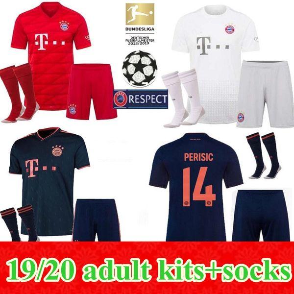 2019 2020 bayern munich kit occer jer ey 19 20 home away 3rd men kit lewandow ki muller hummel toli o jame football hirt, Black;red
