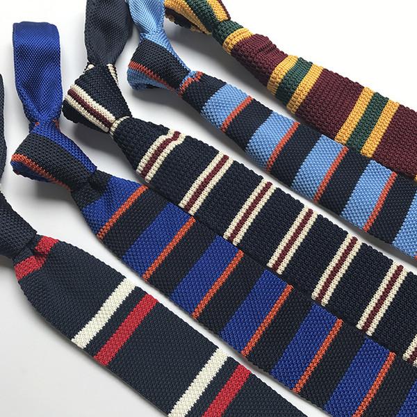 Прямой бизнес досуг творческий тонкой работы трикотажный галстук можно модной личности Baitao вязаный галстук оптом
