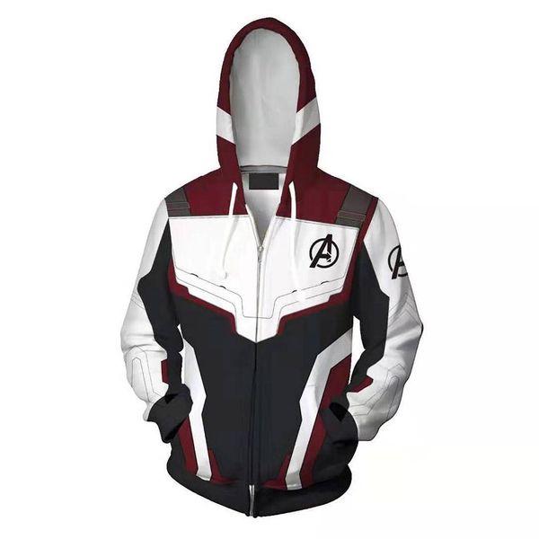 Avengers Endgame Quantum Realm Sweat Veste Advanced Tech Hoodie Costumes Cosplay 2019 nouvelle super-héros Iron Man Hoodies costume
