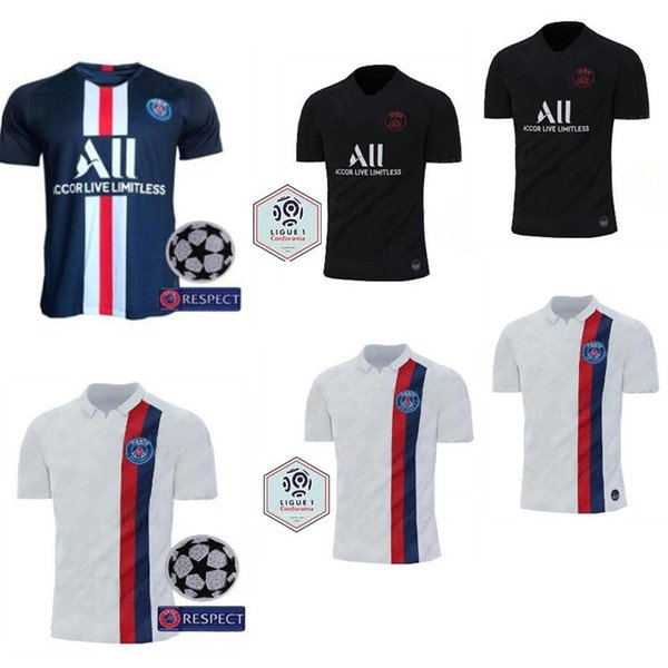 2019 2020 PSG üçüncü maillot MBAPPE futbol forması CAVANI VERRATTI üst tayland 19 20 paris futbol forması KIMPEMBE Camiseta de futbol