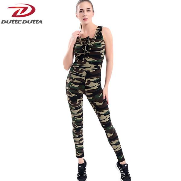 DutteDutta Camouflage Printed Sports Suit Tracksuit Women Yoga Set Gym Running Set Sportswear Leggings Workout Sports Clothing #278614
