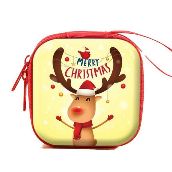 New Creative Xmas Candy Box Christmas Coin Earrings Headphones Gift Box Mini Tin Box Sealed Jar Small Storage Cans Baroque For Kid Packing