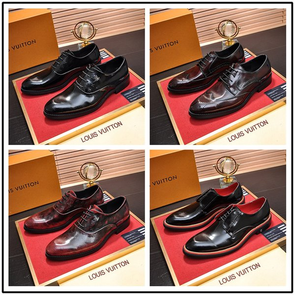 Men Business Shoes 2019 Newest Formal Office Wedding Shoes for Men Crocodile Embossed Leather Dress Shoes Plus Size 38-45