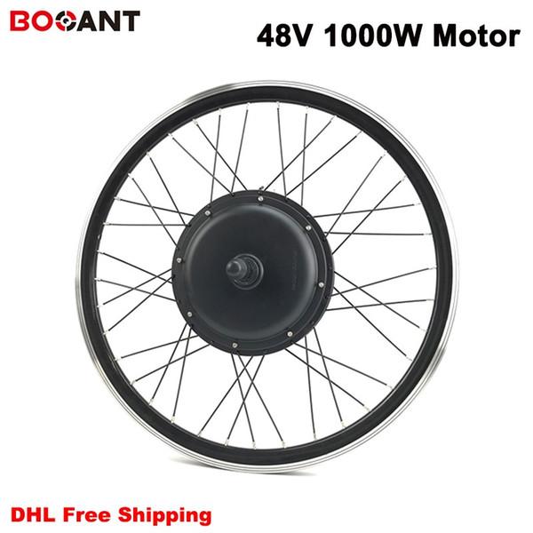 48V 1000W Motor de la rueda delantera para Kits de bicicleta eléctrica 48V Sin escobillas sin engranajes Motor de eje Envío libre de DHL