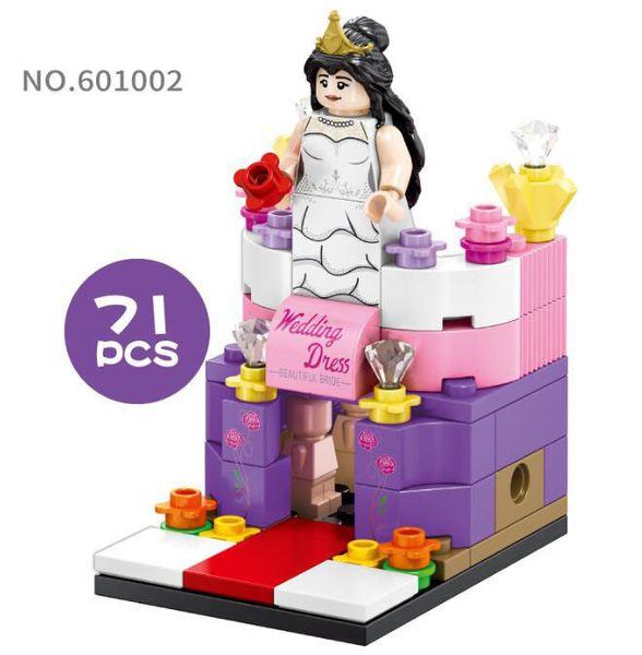 Mini World Little Shop Series City Building Mini blocks 71PCS Puzzle Toys Wedding Dress Shop Gifts for Kids