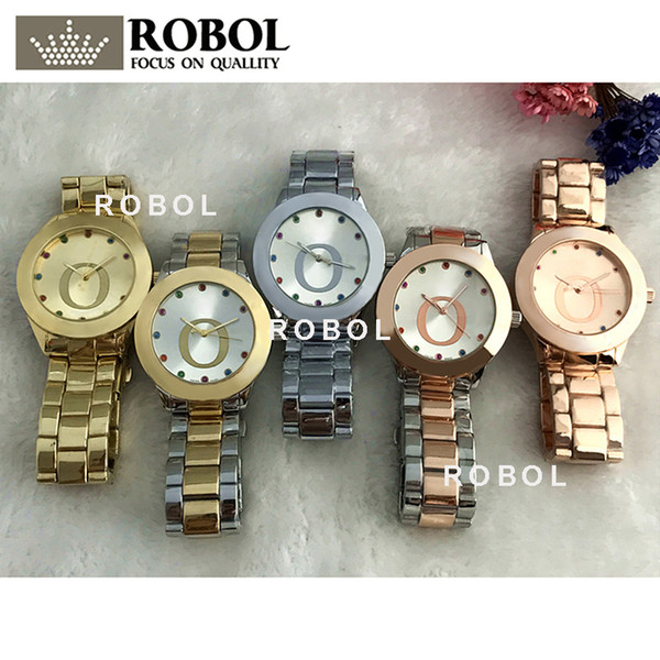 ROBOL Stainless Steel Men Women Couples Quartz Watches Fashion Luxury Original Copy Jewelry Gift Retro Precision Charm Noble