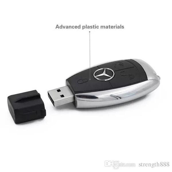 Tasarım Gerçek Kapasite 100% Yüksek kalite Kalem Sürücü Mercedes-Benz araba anahtarları 32 GB ~ 64 gb U disk USB 2.0
