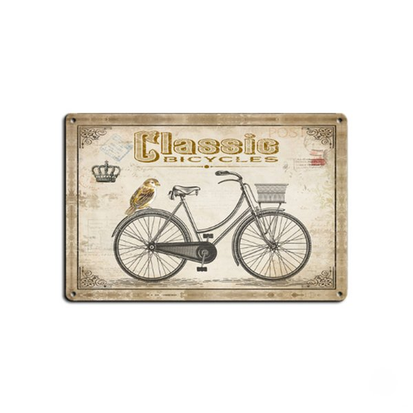 4 styles Bicycle Retro Plate Metal Motor Vintage Craft Tin Sign Retro Metal Painting Poster Bar Pub Wall Art Decor Art Pictures 20*30cm