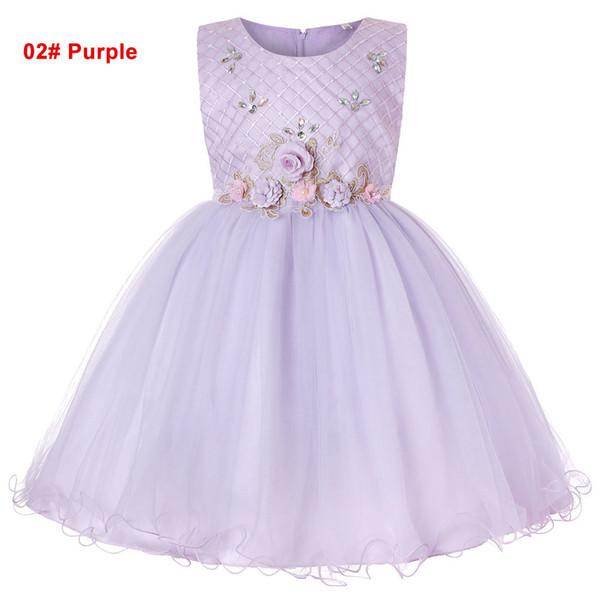 Niñas de verano de 2 a 14 años vestidos de tutú, perlas cultivadas con diamantes Flor de strass, ropa de fiesta para niños boutique de niños, R1AAX808DS-10