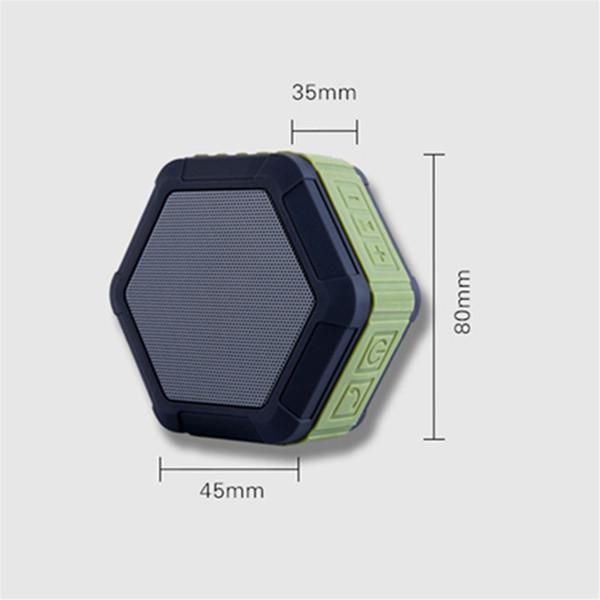 Stereo mp3 player bluetooth speaker mini portátil à prova d 'água my01 hexagonal esportes ao ar livre sem fio cartão tf speaker para telefones inteligentes