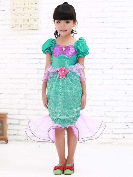 Crianças cauda sereia princesa cosplay trajes de halloween para crianças jogos uniformes praia menina swimsuit
