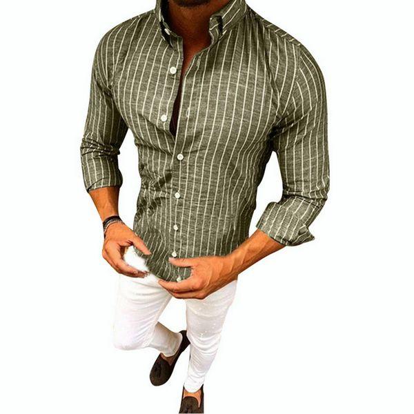 Acquista Camicia Da Uomo A Maniche Lunghe A Righe Maniche Lunghe Camicie Casual Da Uomo In Cotone E Lino Hippie A $34.52 Dal Billstone | DHgate.Com