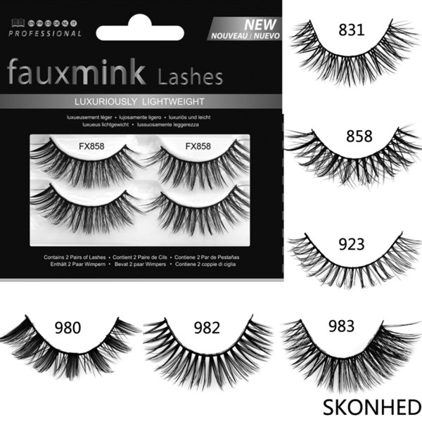 2 Pairs Faux Mink Hair False Eyelashes Natural Long Handmade Lashes Wispy Fluffy Crulety-free Lashes Makeup Extension Tools