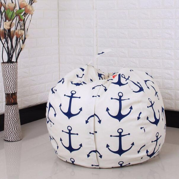 DHL 45 cm Grand Stockage Jouets Stockage Bean Bag Cover par Creative Canvas Organizer Box pour Enfants Jouets Fournitures Ménagères