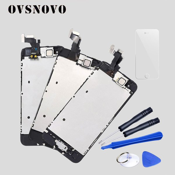 Full Assembly Display For iPhone 5 5c 5s SE LCD Touch Screen Digitizer Replacement+Home Button+Camera+Tempered Glass+Tools set