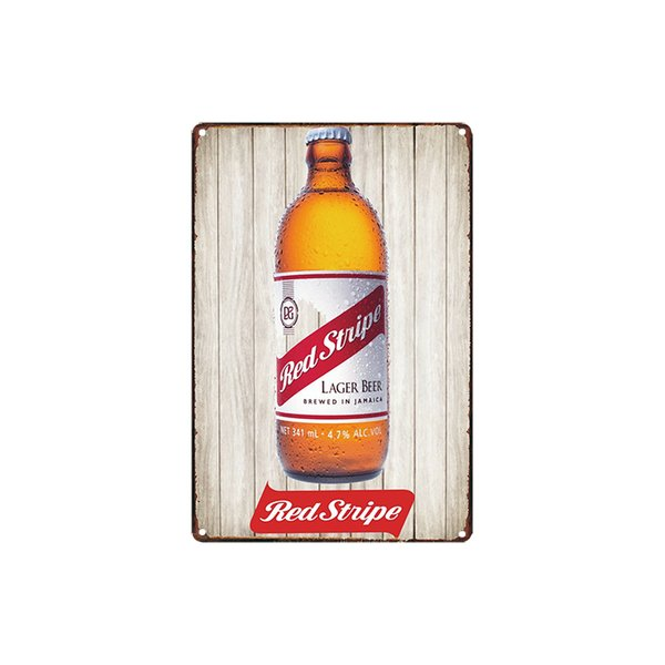 classic vintage Red Stripe Lager beer fram fresh eggs MAN CAVE tin sign Coffee Shop Bar Wall decor Bar Metal Paintings