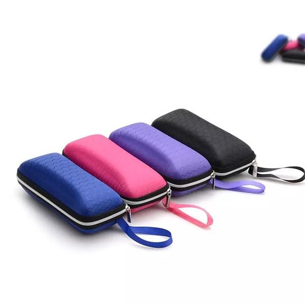 Großhandel 4 Farbe druckfeste Sonnenbrillenetui Reißverschluss zerquetschen Widerstand kleine Gläser