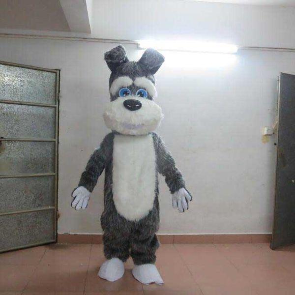 Qualité Costume De Costume De Mascotte De Chien Costume Halloween De Noël D'anniversaire Fête Robe Costume Costumes De Dessin Animé De Terrier Chien