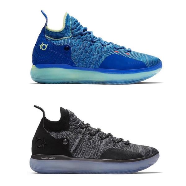 Kd Topest 11 Basketbol Ayakkabı Siyah Gri Farsça Menekşe Klor Mavi Sneakers Kevin Durant 11 s Tasarımcı Ayakkabı Mens Eğitmenler Ayakkabı Kutusu Ile