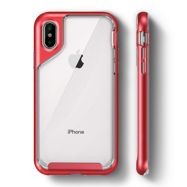Transparent TPU Phone Covers Red 5 Colors Anti-fall Two-in-one Full Enclosure Applicable New for Phone XR XS XS MAX X 7P 8P 7 8 OPP Bag