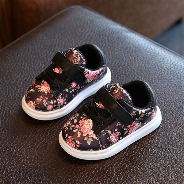 Dimi Cute Flower Baby Girls Comfortable Leather Kids Sneakers For Girl Toddler Newborn Shoes Soft Bottom First Walker Q190524