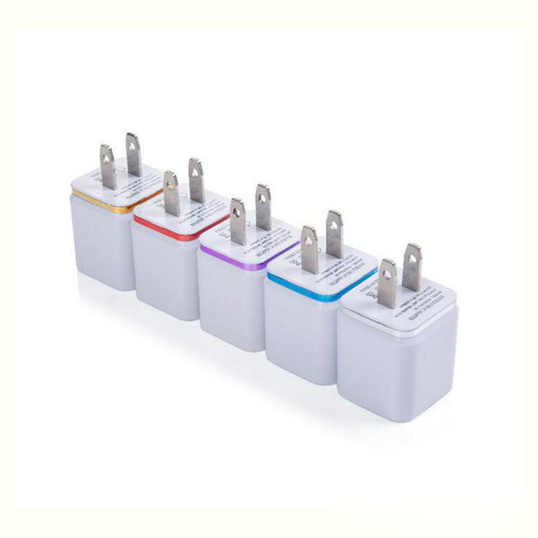 Popular u b wall charging charger u plug 2 1 1 a power adapter wall charger plug 2 port cell phone charger for iphone am ung