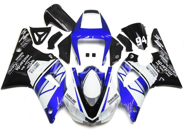 New ABS motorcycle Fairing Kits Fit For YAMAHA YZF-R1 98 99 YZF1000 1998 1999 R1 fairings bodywork set custom blue white black
