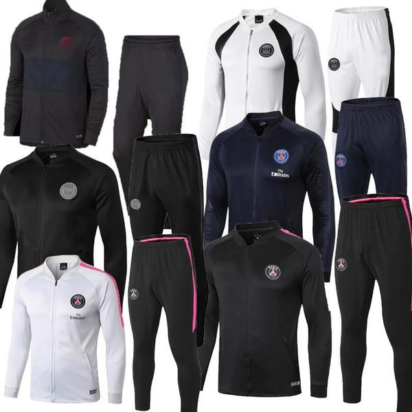 2018 19 Paris adult training suits sportswear thailand quality 18-19 PSG MBAPPE NEYMAR JR cavani di maria training suit Germain Track