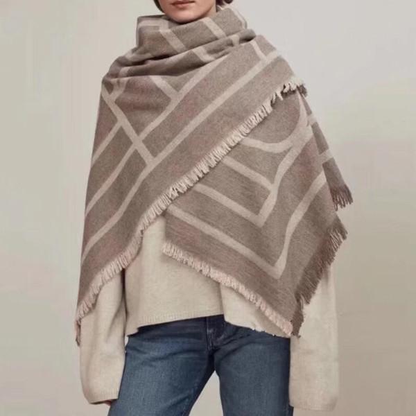 Bufanda de cachemir de alta calidad 150CM Bufanda grandeS Abrigo clásico Bufanda de chal otoño invierno