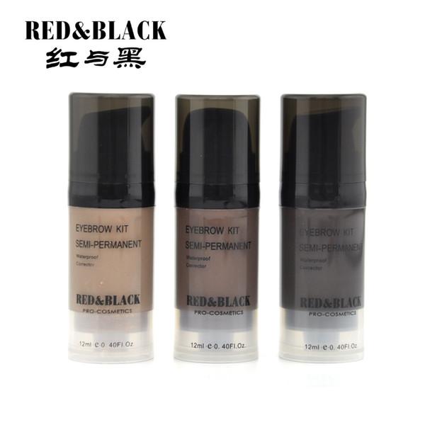 Redblack Sourcils Pommade Peinture Gel Henné Maquillage Pinceau Maquiagem Noir Renforceur De Sourcils Crayon Kit Cire De Colorant Cosmétique 12 ml