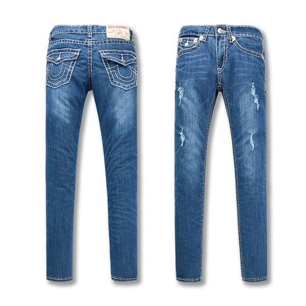 High Quality European and American TR True Belief In Coarse Line Low-waist Jeans Fashion Lady Jeans Trousers