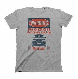 Maglietta per auto da uomo AVVERTENZA Può parlare spontaneamente di My Bimmer New X3