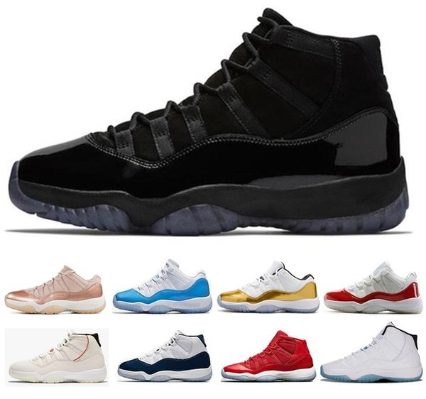 New 11 high low le basketball shoes 72-10 11s University Blue Cap and Gown Space s Jam Gold Infrared Platinum concord 23 45 j11 Sneakers
