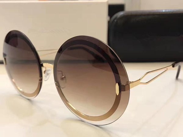 VBS 128 Sonnenbrille Weiseluxuxfrauen Marke Designer Mode-Rund Sommer-Art-Mischfarben-Rahmen-hochwertiges UV-Schutz-Objektiv kommt mit Fall