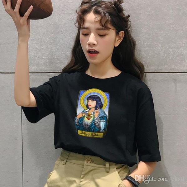 Maglietta da donna T-shirt da donna Maglietta da donna T-shirt da donna stampata a manica corta