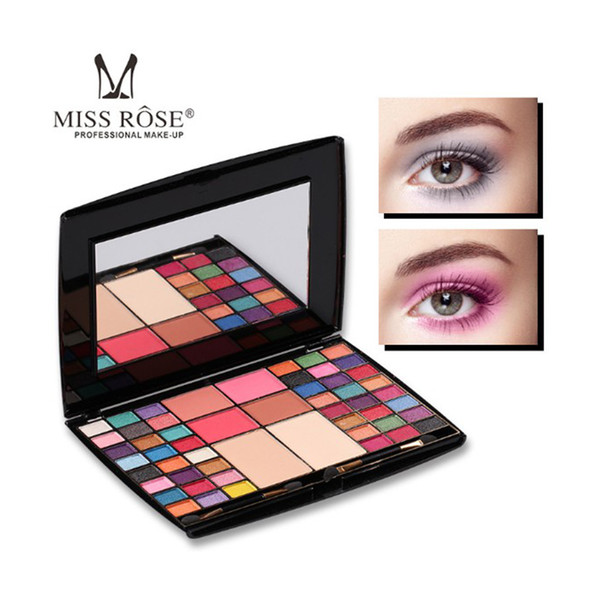 Hot Sale Miss Rose 48 colors Professional Makeup artist Eye shadow Palette Blusher Compact powder Matte Glitter With Brush