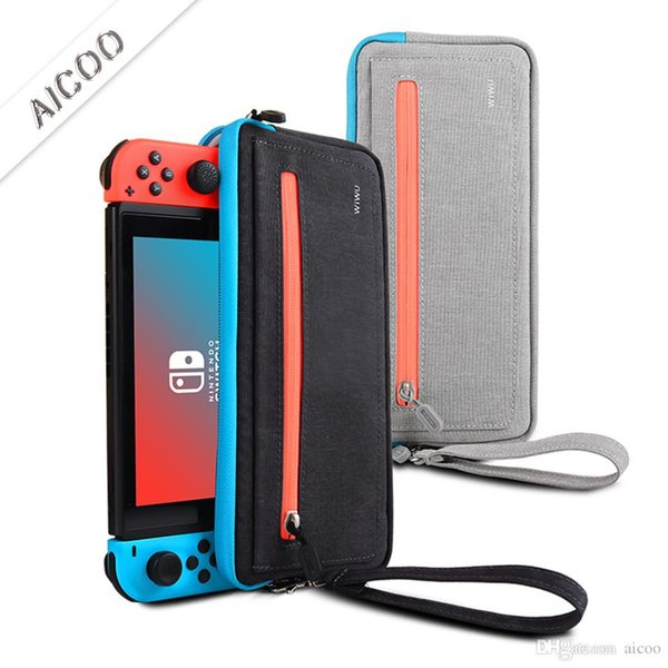 Slim NES Switch Case Protective Sleeve Pouch Bag With Game Slots WaterProof Scratch Resistant Portable Travel Carry Case With Retailbox