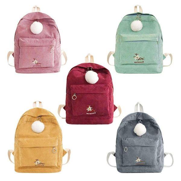 Women's Bags Hot Women Backpack Female Corduroy Backpack School Bag For Girls Rucksack Female Teenager Travel Backpack Lady Bookbag Mochila Backpacks