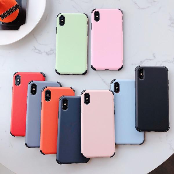 Silicone líquido caso à prova de queda gel de borracha à prova de choque capa case drop proteção para apple iphone x xs xr huawei p30 pro xiaomi 8 9