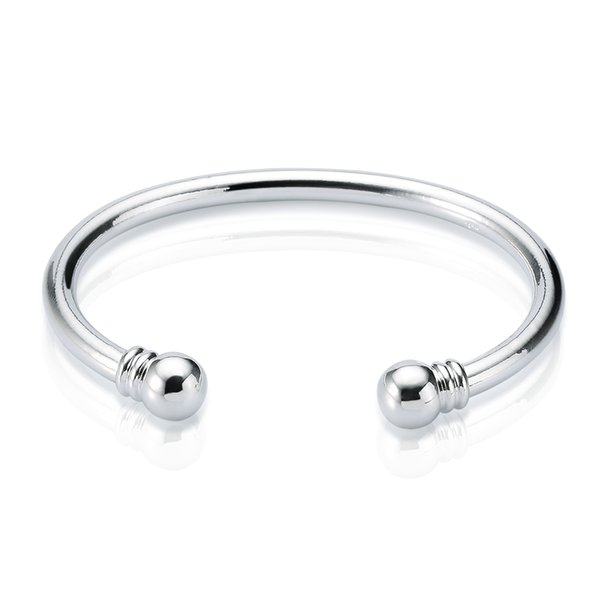 New arrival 925 Sterling Silver cuff bangle Torque Plain Bangle Bracelet Open Size bracelet bangles for Women Free Shipping