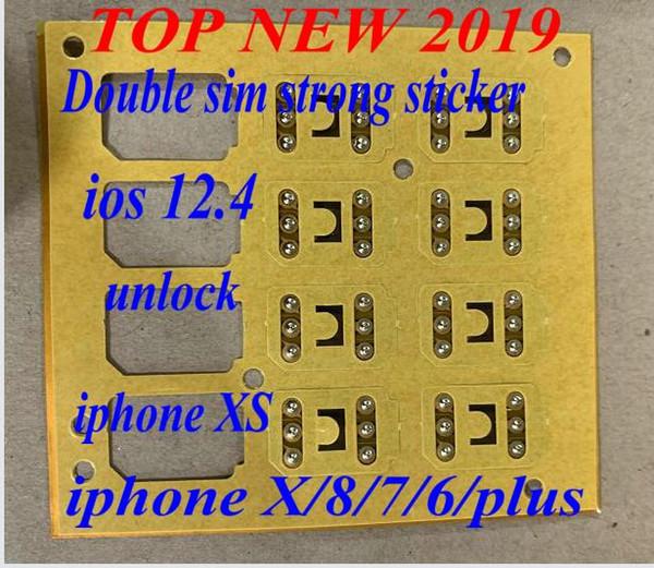 Neuestes entriegeln Karte Doppel-sim starkes Goldsim intelligenten Span für iphone x xs xr 8 7 6 5s SE und plus IOS 12.3.n2 IOS 12.4, das Aktivierung entriegelt
