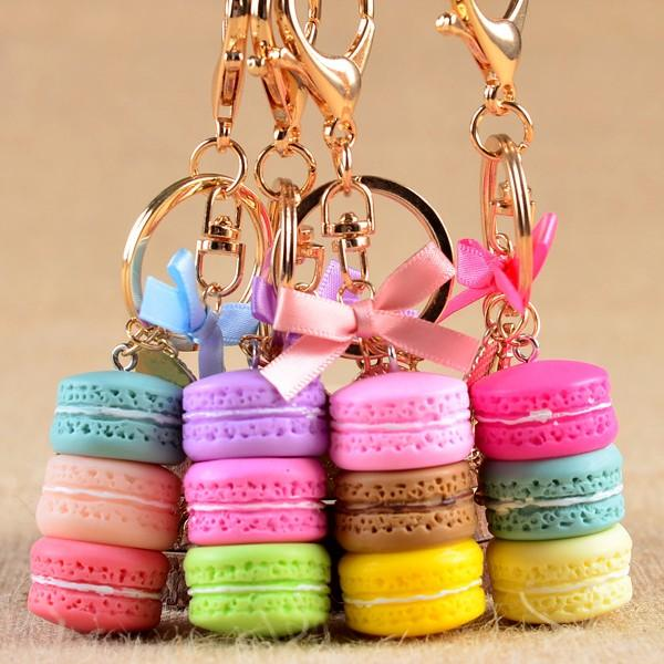 CLASSIC FRENCH STYLE DESSERT CAKE CHIC EIFFEL TOWER PENDANT KEYCHAIN KEYRING FUNNY KEY ACCESSORIES UNIQUE KEY CHAIN KEY RING FOR BAG CAR